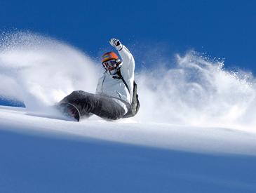 童滑雪简笔人物画